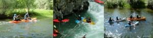 Descenso de aguas bravas por el rio Jerte