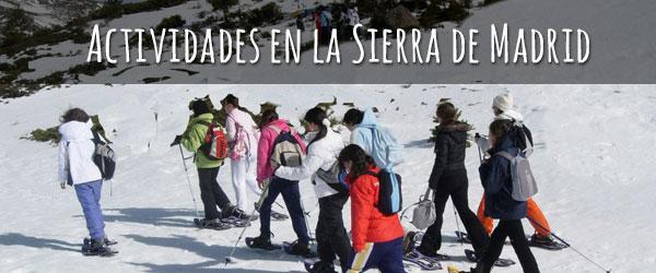Packs de invierno, actividades en la sierra de Madrid